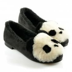 $24.89 Sweet Women's Flat Shoes With Panda Pattern and Faux Fur Design