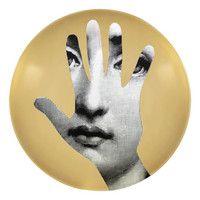 fornasetti plate # 15 GOLD tema e variazioni