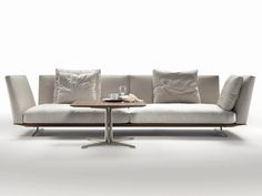 3 seater upholstered fabric sofa with removable cover Evergreen Collection by FLEXFORM | design Antonio Citterio