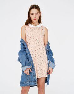Vestido manga sisa cuello bobo - Vestidos - Ropa - Mujer - PULL&BEAR Colombia