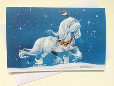 Julkort Stjärnhimmel via Mulleshoppen - Lena Furberg illustration