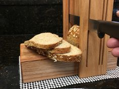 Horizontal/Vertical Oak Three Thickness Bread Slicing Guide with Anti Slip Mat Protective Oil Finish Applied Free Shipping Cutting Boards, Lathe, Mystery, Bread, Oil, Free Shipping, Floor, Wooden Cutting Boards, Computer Case