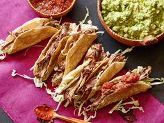 """The Mexican Pot Roast taco meat is Whole30-friendly (and DELICIOUS) as long as you skip the corn tortillas. I like to eat it over cauliflower """"rice"""" with lots of guacamole, salsa, and shredded cabbage!"""