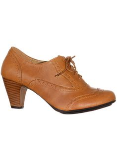 1940sStyleShoes Whiskey Mill Lace-Up Oxford Heels $42.00 AT vintagedancer.com