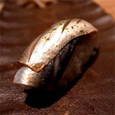Kohada nigiri sushi, marinated in vinegar and sprinkled with yuzu peel - Nomura Sushi, Taipei Sashimi Sushi, Fresh Products, Japanese Sushi, Professional Chef, Nihon, Food Industry, Traditional Japanese, Taipei, Taste Buds