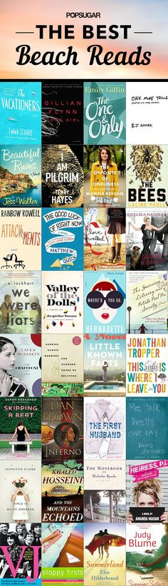 The perfect books to read while you're on vacation or at  the beach.