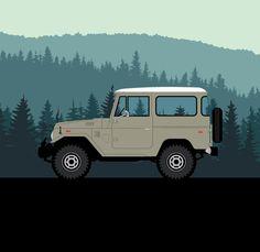 Toyota FJ40 Land Cruiser Illustration