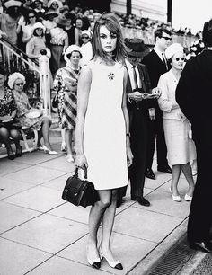 Jean Shrimpton in a shift dress in the 1960s