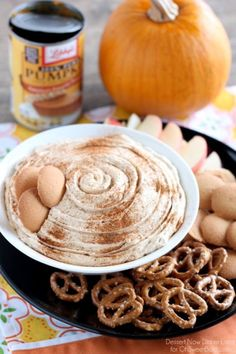 You'll want to dip everything in this no-bake pumpkin cheesecake dip.