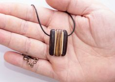 Wenge choker necklace wooden necklace exotic by ebenetropbelle