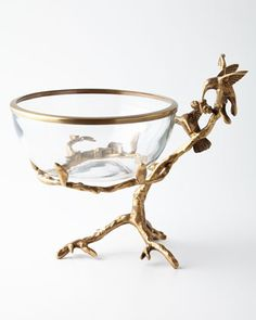 Brass & Glass Decorative Bowl by John-Richard Collection at Neiman Marcus.