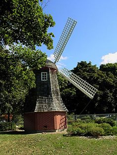 Dutch windmill at Riverside Park