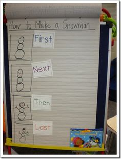 sequencing - - Re-pinned by @PediaStaff – Please Visit http://ht.ly/63sNt for all our pediatric therapy pins classroom idea, how to writing kindergarten, procedural writing, anchor charts, writing for kindergarten, grade, kindergarten sequencing, writing activities, writing lessons