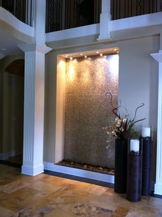 Indoor Waterfalls   A Gorgeous Way To Make An Entrance Way Stand Out