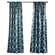 Add a bold pop of pattern to your living room or master suite with this stylish curtain panel, showcasing a trellis motif and rod pocket.  ...