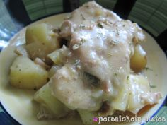 Persnickety Plates: Crock Pot Creamy Ranch Pork Chops & Potatoes
