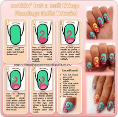 This page has lots of step-by-step tutorials for cute nail art!
