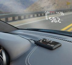 The Windshield Heads Up Display ////////////////////////////////////// gadgets, car tech, awesome gadgets, cool technology, cool tech, tech gifts, tech gift for men