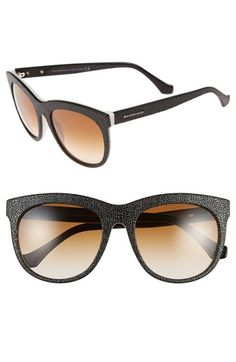 Balenciaga Paris 54mm Textured Sunglasses available at #Nordstrom