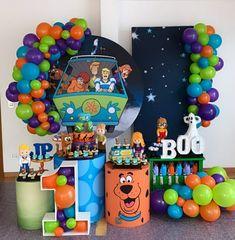 Boys First Birthday Party Ideas, Kids Birthday Themes, Kids Party Themes, 6th Birthday Parties, Birthday Party Decorations, Boy Birthday, Torta Scooby Doo, Scooby Doo Birthday Cake, Scooby Scooby