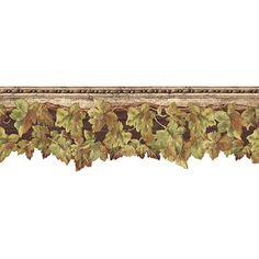 English Ivy Wallpaper Border, Multicolor