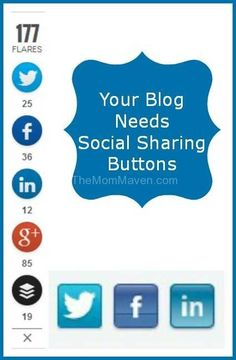 Your Blog Needs Social Sharing Buttons  (how to add social sharing buttons to Blogger blogs too)
