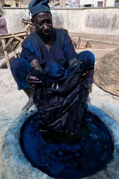 Africa | At the indigo dye pits, over 500 years old. Kano, Kano State, Nigeria | ©Mark Shenley