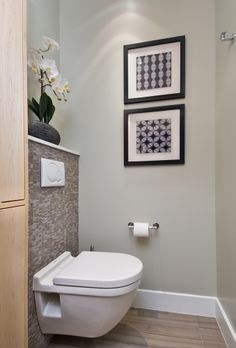 Modern clean master ensuite with curbless shower for Bathroom design ottawa