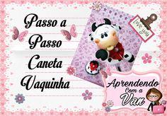 (DIY) PASSO A PASSO CANETA VAQUINHA COM MOLDE MINI PETS