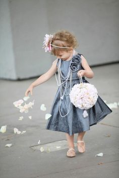 flower girl ball hollowed out with the fresh flowers to throw #flowergirl