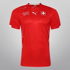 Camisa Puma Seleção Suíça Home 2014