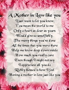I Love My 1 And Only Mother In Law Quotes Happy Mother Day