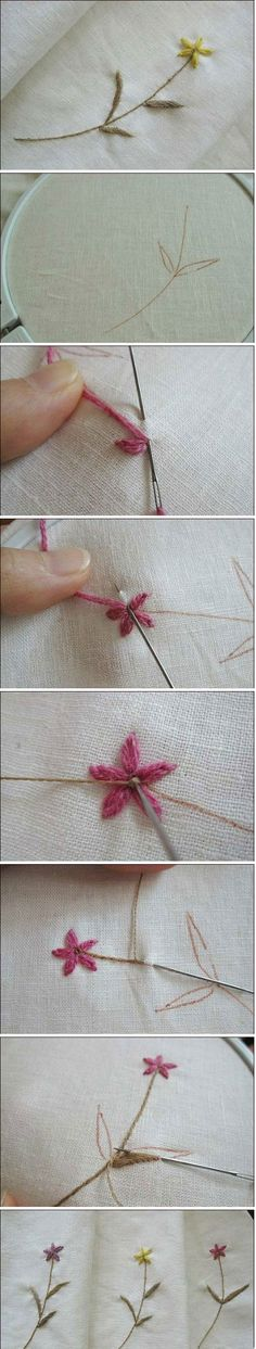 Embroider a Flower DIY