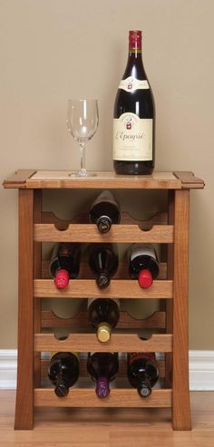 <strong>Display Project:</strong> This wine rack is great for a…