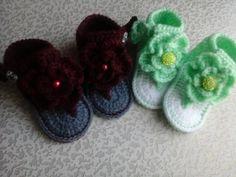 Sally's Fancy Crafts- crochet baby sandals