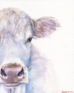 Hello! My name is George Dyachenko. Im a professional full time artist. This painting created by me in my own workshop with professional colors,papers and brushes. ______________________________________________________________________    Title: Cow It is the work of a watercolor series : Farm animals  ______________________________________________________________________  Details about print :  • This is the Print of the my original painting • You can chose any sizes : - 8 x 10 inches (20 x…
