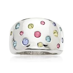 .75 ct. t.w. Multi-Gem Ring In Sterling Silver  good use for my gemstones