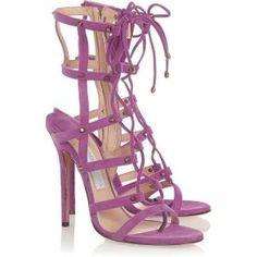 64% off Jimmy Choo - Sandals Manous Stud-Embellished Suede Violet - $394.20 #jimmychoo #manous #sandals