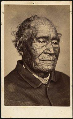 Elizabeth Pulman fl Portrait of Tamati Waka Nene, [ca Native Canadian, Native American, Once Were Warriors, Ta Moko Tattoo, Nz History, Profile Drawing, Maori People, National Symbols, Maori Art
