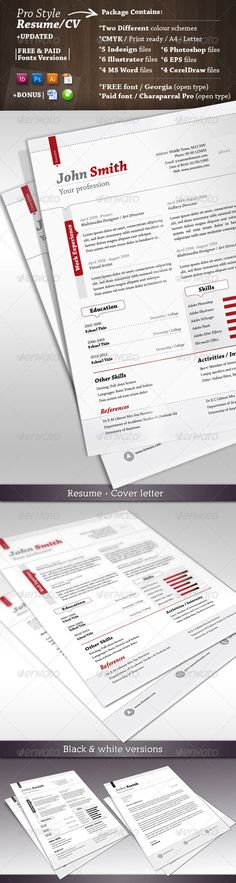 Trendy Job Resume Set Fonts, Creative and Template - coaching resume cover letter