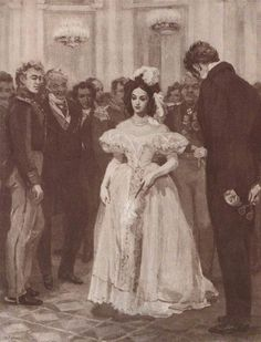 Onegin's second meeting with Tatiana