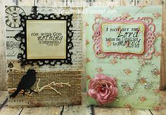 Cards featuring K Andrew Designs Scripture Sayings stamp set. http://indymermaid.blogspot.com