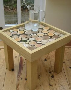 This piece of furniture, offering natural design, will add style to any contemporary or traditional setting.  Handmade to order from a choice of hard woods, Idigbo (honey coloured) or Sapele (red wood) with 4mm toughened glass tops.  This product can be offered as a bespoke item to cater for individual tastes. Please note that although these tables could be a useful item in the garden, they are not suitable to be left out in wet weather conditions. Sizes: 46cm x 46cm x 43.5cm high with log…