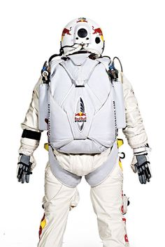 Red Bull Stratos Space suit Back Bullet Vest, Felix Baumgartner, Astronaut Costume, Space Fashion, Buzz Aldrin, Space Program, Museum Exhibition, Space Exploration, Science And Nature