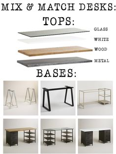 # ideas home office furniture ikea diy desk, – Home Office Design İdeas Home Office Space, Home Office Desks, Home Office Furniture, Diy Furniture, Diy Office Desk, Plumbing Pipe Furniture, Trendy Furniture, Furniture Dolly, Furniture Design