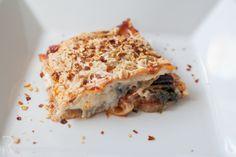 """Rika"" eggplant-mushroom-spinach-zucchini lasagna - I'll use real cheese"