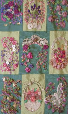 This has given me a great idea - making a quilt to showcase / preserve heirloom lace, doilies, embroidered pillow cases, etc. I really need more time!!!!