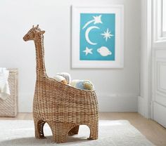 Shop giraffe shaped wicker basket from Pottery Barn Kids. Find expertly crafted kids and baby furniture, decor and accessories, including a variety of giraffe shaped wicker basket. Safari Nursery, Nursery Decor, Baby Giraffe Nursery, Safari Bedroom, Jungle Safari, Giraffe Room, Nursery Rocker, Giraffe Head, Baby Shower Giraffe