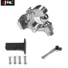 JHO Car Trailer Tow Hitch Ball Mounting Kit For Ford Explorer Jeep Grand Cherokee Truck Hook Hauling Receiver Coupler Lock. If trailer is short, avoid backing off. Short trailer is easy to jackknife. Car Trailer, Trailer Hitch, Jeep Grand Cherokee Accessories, Ford Explorer Accessories, F150 Truck, Stainless Steel, Ebay