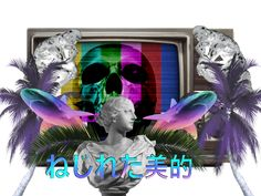 Twisted Aesthetic Follow http://capersnvapors.tumblr.com/ for more Vaporwave art